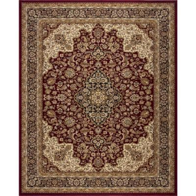 Silk Road Red 5 ft. x 8 ft. Medallion Area Rug
