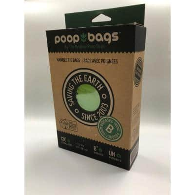 7 in. x 13 in. Bio-Based Handle Tie Dog Bags (120-Count)