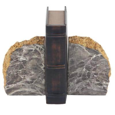 Brown Polystone Bookends (Set of 2)