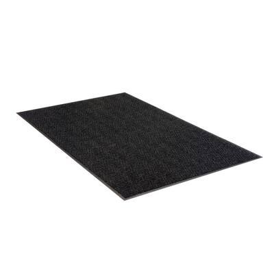 Chevron Rib Charcoal 3 Ft. x 5 Ft. Commercial Door Mat