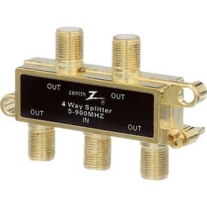 3-Way 900MHz Coaxial Splitter in Gold