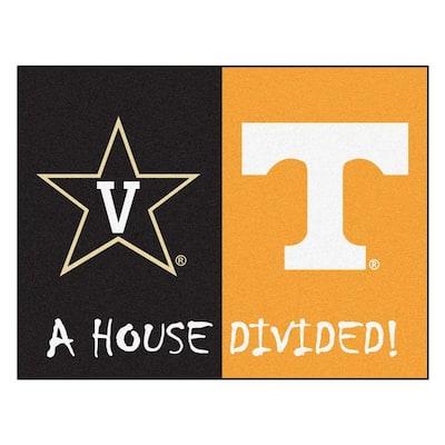 NCAA Vanderbilt/Tennessee House Divided 3 ft. x 4 ft. Area Rug