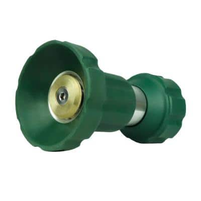Heavy-Duty Fireman Garden Hose Nozzle, Solid Brass Metal Twist Nozzle Adjustable Water Flow Sprayer