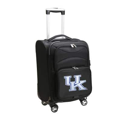 NCAA Kentucky Black 21 in. Carry-On Softside Spinner Suitcase