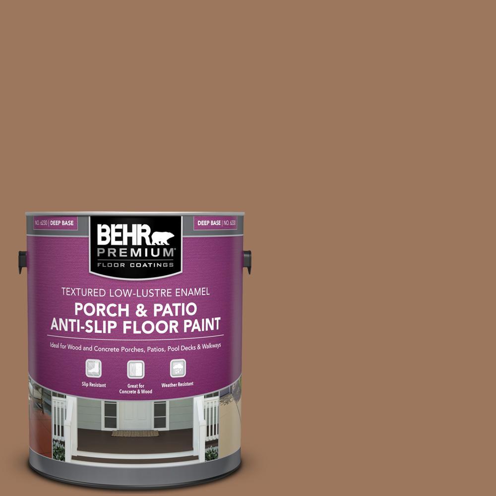 1 gal. #SC-152 Red Cedar Textured Low-Lustre Enamel Interior/Exterior Porch and Patio Anti-Slip Floor Paint