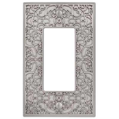 Momfort 1 Gang Rocker Metal Wall Plate - Satin Nickel