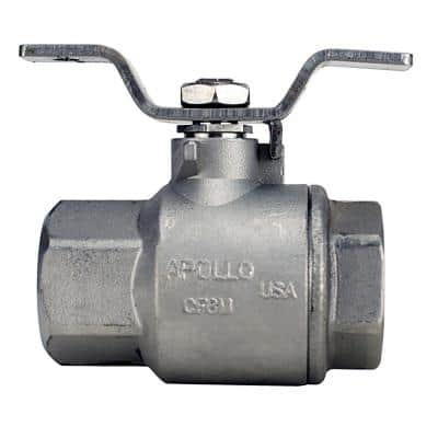 1 in. Stainless Steel FNPT x FNPT Full-Port Ball Valve with Tee Handle