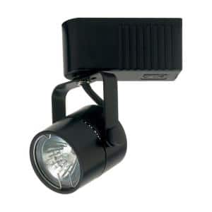 1 Light Track Light Fixture Black