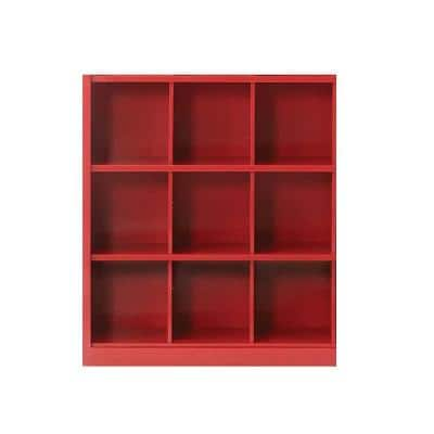 Red Metal 9 -Cube Organizer