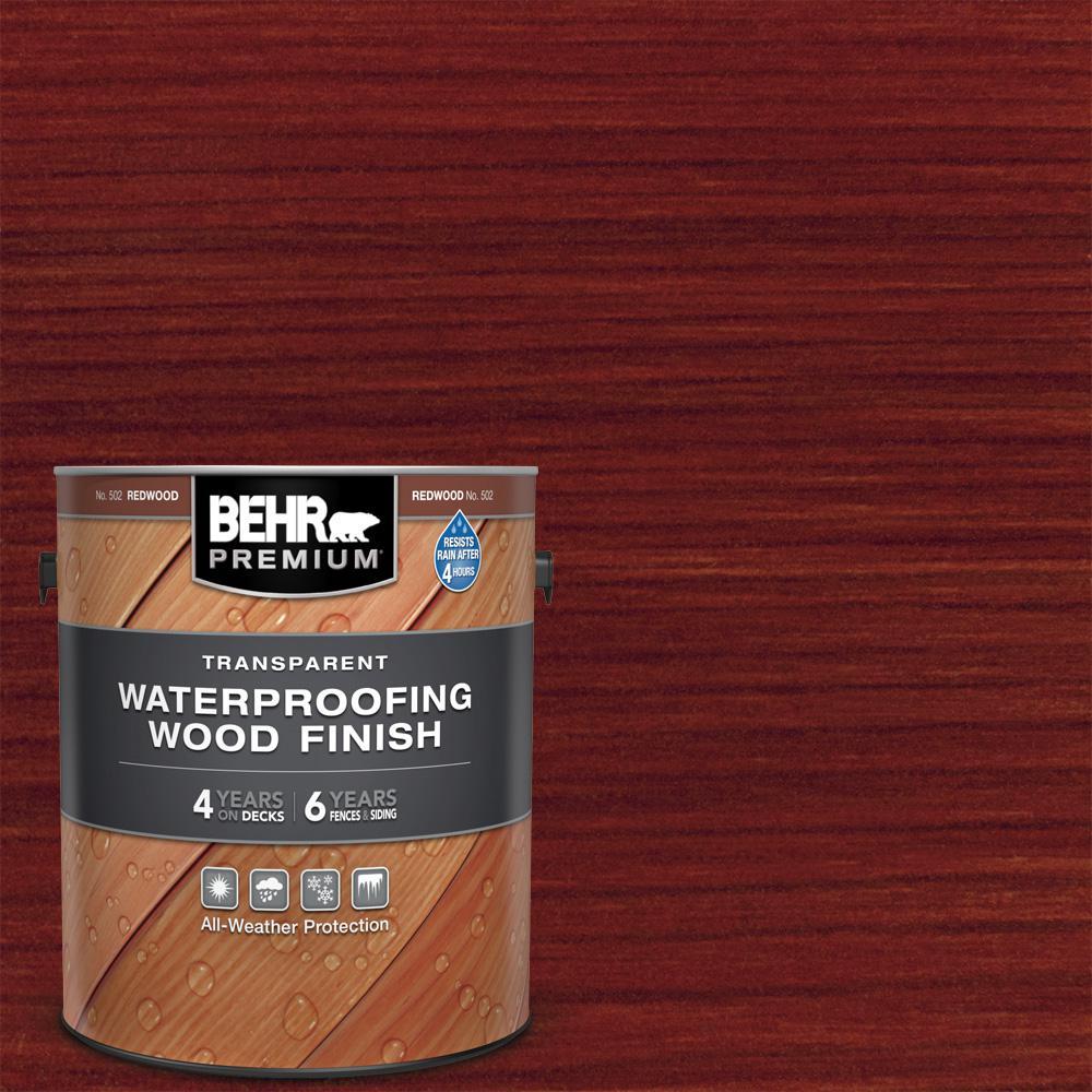 1 Gal. #T-330 Redwood Transparent Waterproofing Exterior Wood Finish