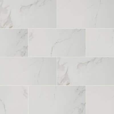 Carrara 12 in. x 24 in. Glazed Polished Porcelain Floor and Wall Tile (28 cases/448 sq. ft./ Pallet)