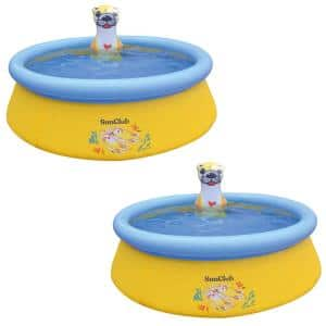 5 ft. Round 16.5 in. D Sea Otter Inflatable Kiddie Pool (2-Pack)