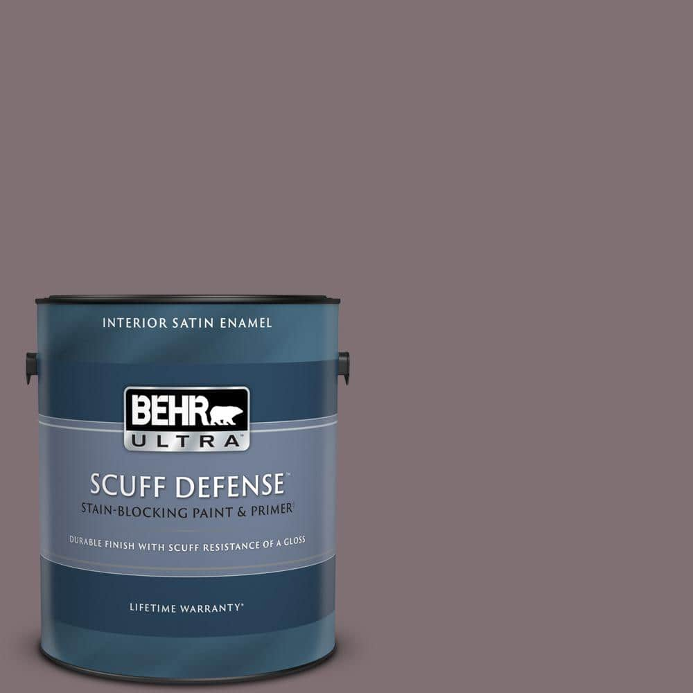 Behr Ultra 1 Gal N110 5 Royal Raisin Extra Durable Satin Enamel Interior Paint Primer 775301 The Home Depot