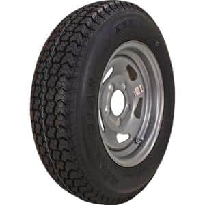 ST205/75D-15 K550 BIAS 1820 lb. Load Capacity Silver 15 in. Bias Tire and Wheel Assembly