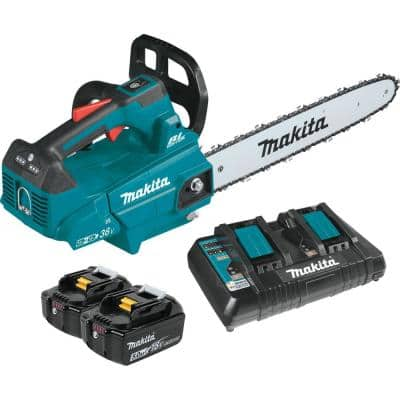 16 in. 18-Volt X2 (36-Volt) LXT Lithium-Ion Brushless Cordless Top Handle Chain Saw Kit (5.0Ah)