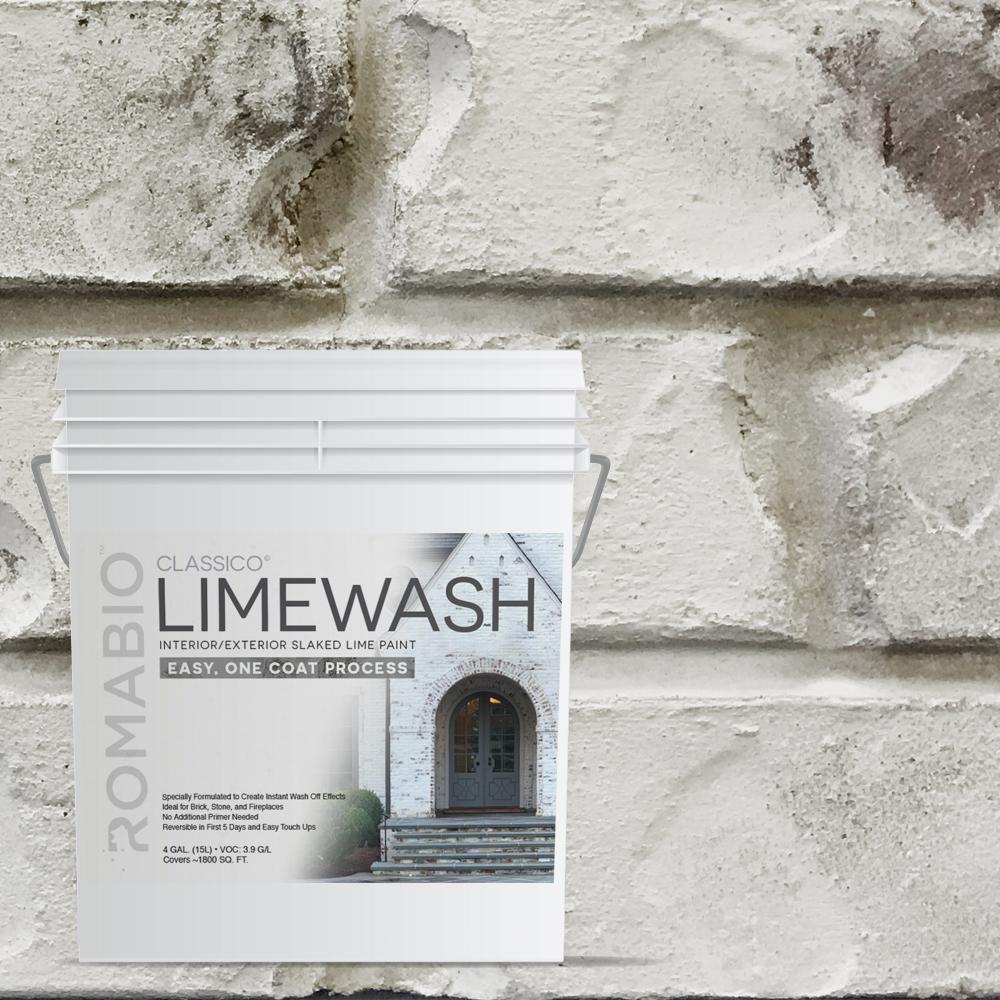 4 Gal. Cristallo White Limewash Interior/Exterior Paint