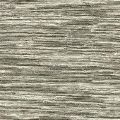 Mabe Taupe Faux Grasscloth Taupe Wallpaper Sample