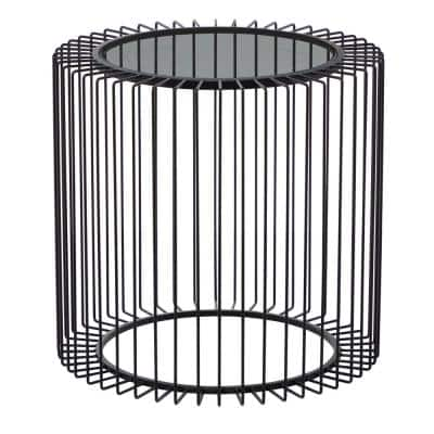 Litton Lane 20 in. Black Metal Contemporary Accent Table