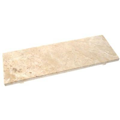 Natural Champagne Marble 6 in. x 17.5 in. Beige Rectangular Serving Tray Cheese Dessert Serving Board