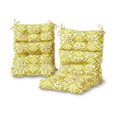Shoreham Ikat Outdoor High Back Dining Chair Cushion (2-Pack)