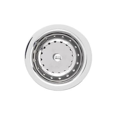 3.5 in. Deluxe Kitchen Sink Strainer in Chrome