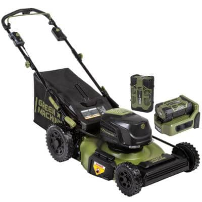 62V Brushless RWD Self Propelled 3-in-1 High Wheel Walk Behind Mower, 22 in. cutting width and 2 4Ah Batteries & Charger
