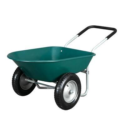 220 lbs. Capacity Steel Garden Cart with 2 Wheels