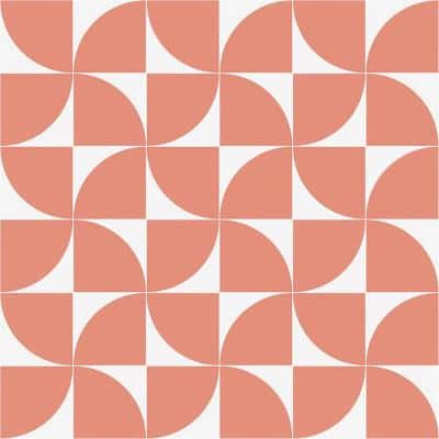 Tori Crescent Coral 8 in. x 8 in. Matte Porcelain Floor and Wall Tile (9 Pieces/3.87 sq. ft./Case)