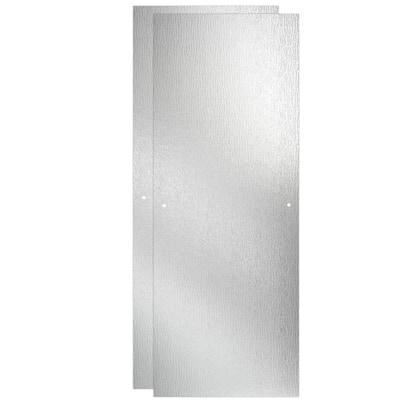 23-17/32 in. x 67-3/4 in. x 1/4 in. (6 mm) Frameless Sliding Shower Door Glass Panels in Rain (For 44-48 in. Doors)