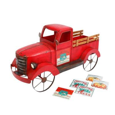42 in. L x 22 in. Solar Lighted Metal Truck