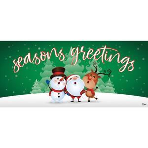 7 ft. x 16 ft. Christmas Characters Seasonal Greetings-Christmas Garage Door Decor Mural for Double Car Garage