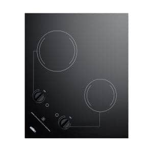 21 in. 115-Volt Radiant Electric Cooktop in Black with 2-Elements
