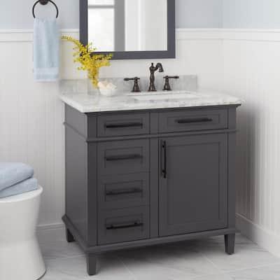 Lyndhurst 8 in. Widespread 2-Handle High-Arc Bathroom Faucet in Bronze