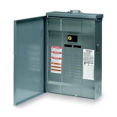 QO 100 Amp 20-Space 24-Circuit Outdoor Main Breaker Plug-On Neutral Load Center with Cover