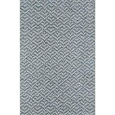 Como Blue 9 ft. 10 in. X 13 ft. 2 in. Indoor/Outdoor Area Rug