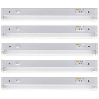 18 in. 9-Watt LED Under Cabinet Light Grow Light Adjustable Beam Angle 3 CCT and Grow Mode Indoor Gardening (5-Pack)