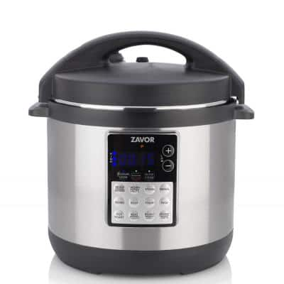 LUX EDGE 4 Qt. Stainless Steel Electric Pressure Cooker with Stainless Steel Cooking Pot