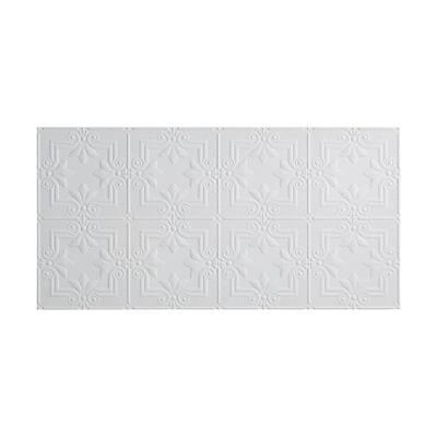 Regalia 2 ft. x 4 ft. Glue Up Vinyl Ceiling Tile in Matte White (40 sq. ft.)