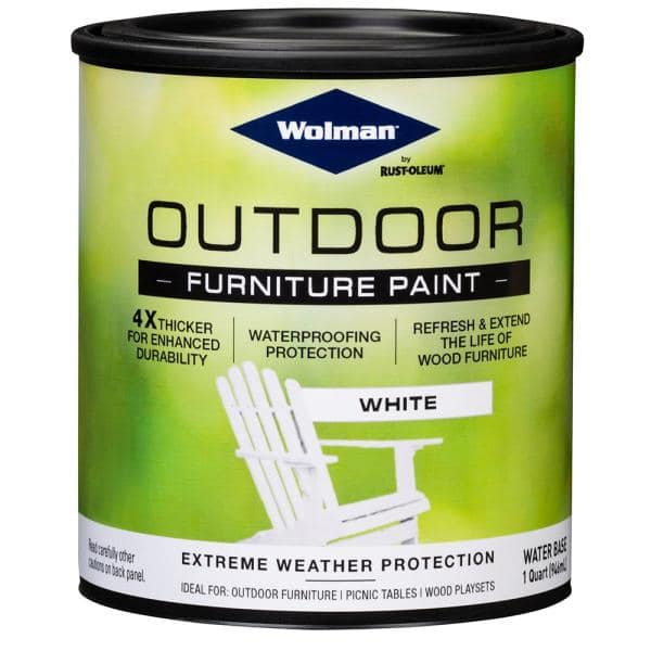 Wolman 1 Qt White Outdoor Furniture, What Is The Best Type Of Paint To Use On Outdoor Wood Furniture