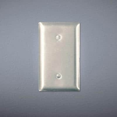 Pass & Seymour 302/304 S/S 1 Gang Strap Mounted Blank Oversized Wall Plate, Stainless Steel (1-Pack)