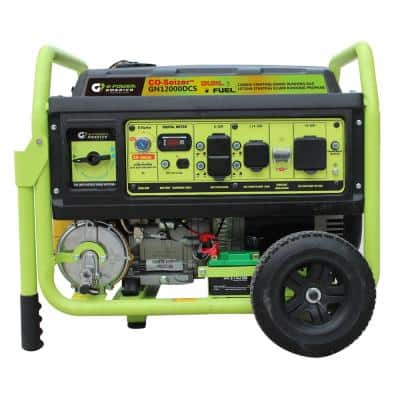 12000-Watt Electric Start Gasoline/Propane Portable Generator with CO Detector