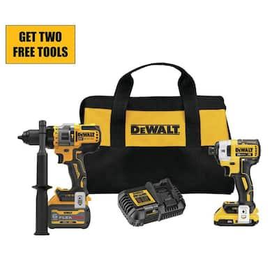 20-Volt MAX Cordless Brushless Hammer Drill/Driver Combo Kit with FLEXVOLT ADVANTAGE (2-Tool)