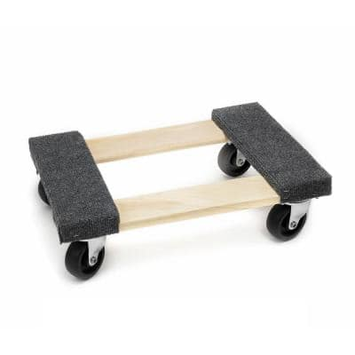 18 in. x 12 in. 1000 lbs. Capacity Heavy-Duty Hardwood Dolly for Moving Furniture