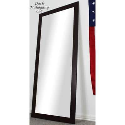 Oversized Dark Walnut Composite Modern Mirror (65.5 in. H X 30.5 in. W)