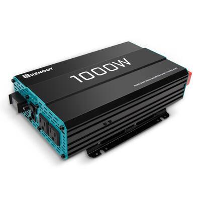 1000-Watt Solar 12-Volt Pure Sine Wave Off Grid Battery Inverter with USB Port