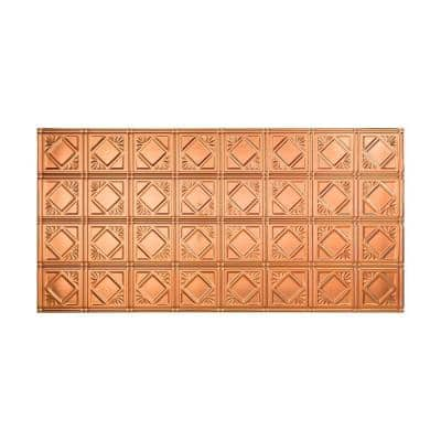 Traditional #4 2 ft. x 4 ft. Glue Up Vinyl Ceiling Tile in Polished Copper (40 sq. ft.)