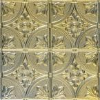 Tiptoe 2 ft. x 2 ft. Nail Up Tin Ceiling Tiles in Gold Nugget (48 sq. ft. / box)