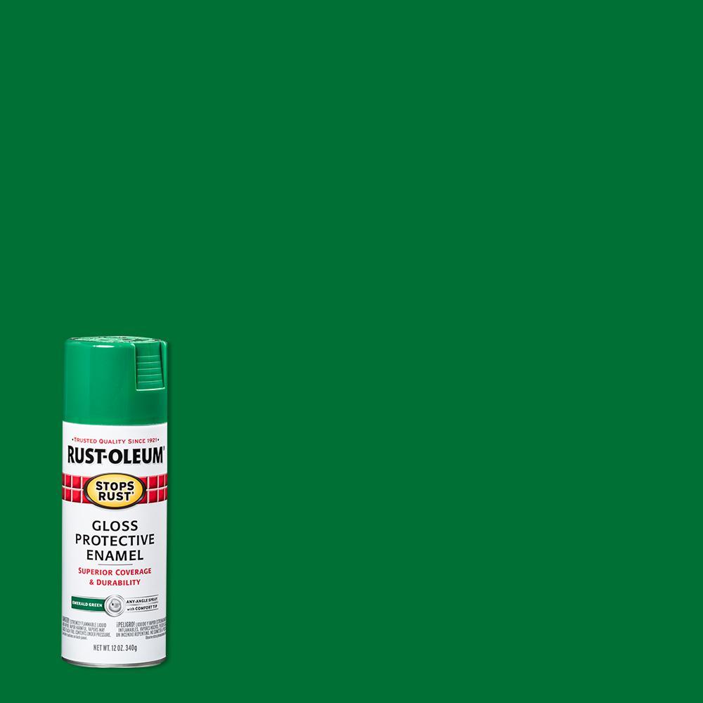 12 oz. Protective Enamel Gloss Emerald Spray Paint (6-Pack)