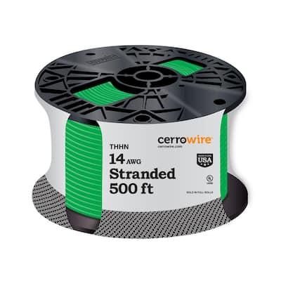 500 ft. 14 Gauge Green Stranded CU THHN Wire