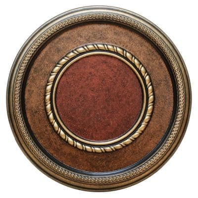 17-3/8 in. Golden Roped, Bronze, Gold and Copper Polyurethane Hand Painted Ceiling Medallion